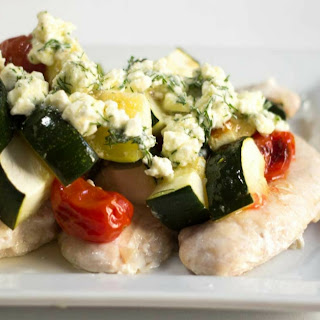 Greek Chicken with Feta and Dill.
