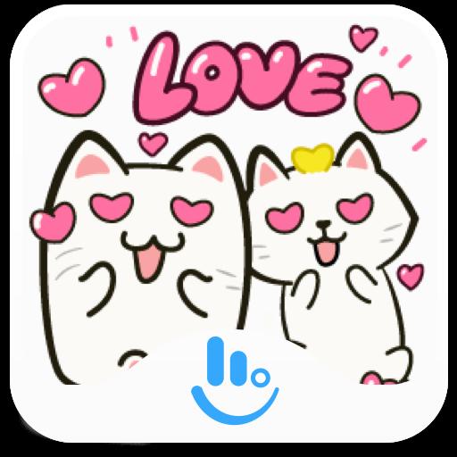 Cats CEO Bibi & Yoyo TouchPal Keyboard Sticker