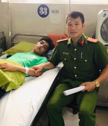 Cháu Vũ Hiệp đang điều trị tại Bệnh viện.