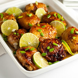4 Ingredient Honey Lime Chili Chicken Thighs.