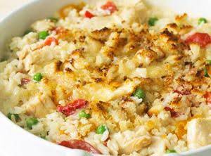 Alfredo Sauced Chicken And Rice