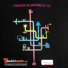 Photo: MAchines de l'île T-shirt imprimé en transfert sérigraphie