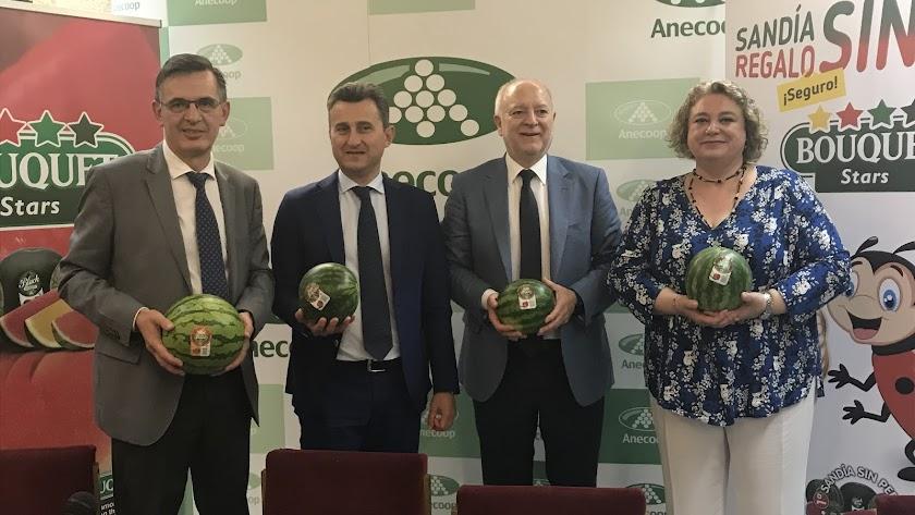 Miguel Abril, director comercial; Alejandro Monzón, presidente; Joan Mir, director general y Piedad Coscolla, directora de Marketing.