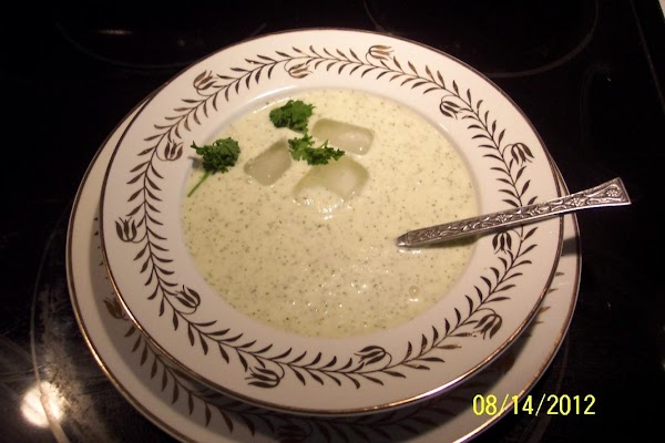 Cool Iced Cucumber Soup Recipe