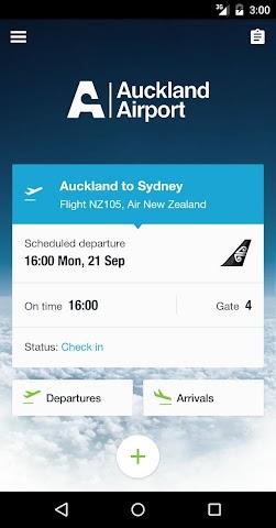 Screenshot 1 Auckland Airport