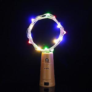 Set 2 x Dop pentru sticla, cu lumini LED multicolor