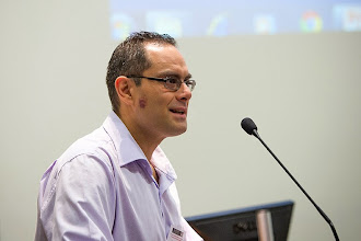 Photo: Dr Seb Dworkin, Department of Medicine, Central Clinical School, opening the one day symposium.