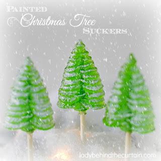 Painted Christmas Tree Suckers