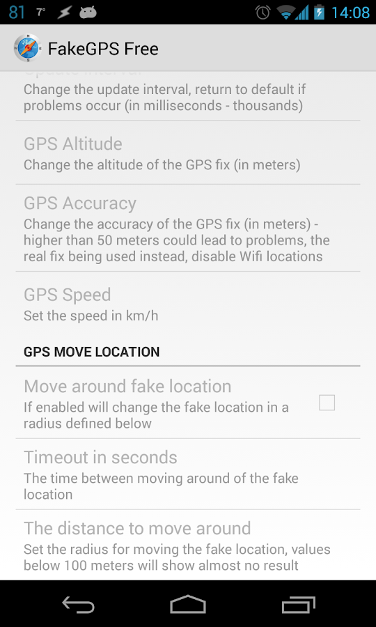 Fake GPS GO Location Spoofer Free- screenshot
