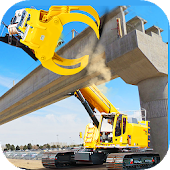 City Flyover Construction- Road Bridge Builder Android APK Download Free By 3DGameHouse