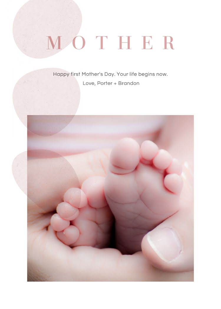 First Mother's Day - Mother's Day Card Template