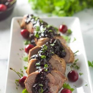 Cherry Chipotle Glazed Pork Tenderloin