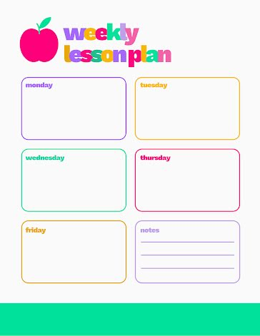 Weekly Lessons - Planner Template