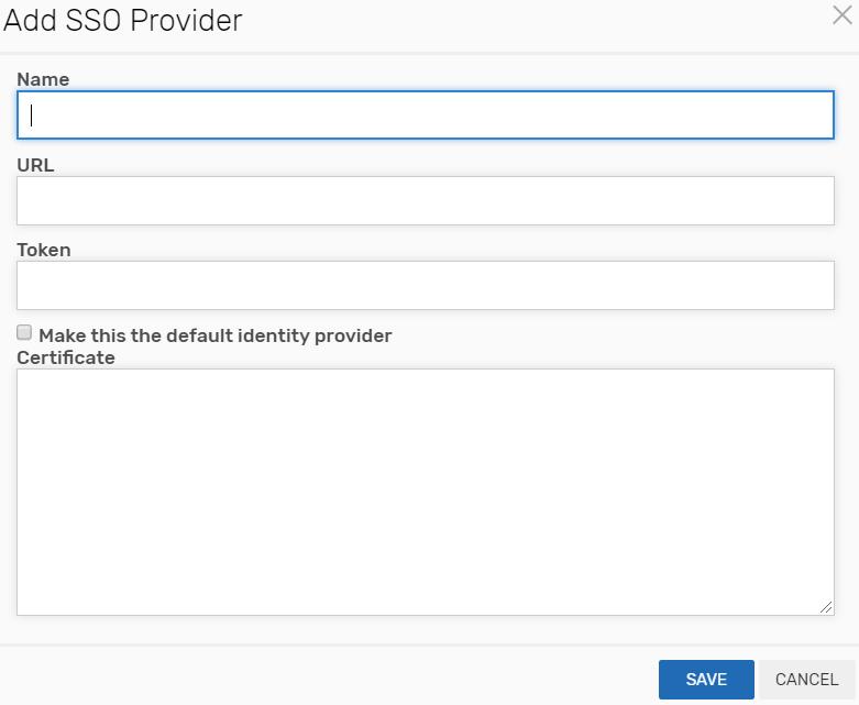 Add SSO Provider