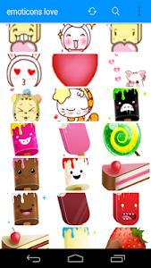 Emoticons Cute Love screenshot 3