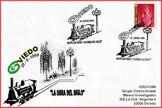 Photo: Matasellos de la Obra del Siglo de Oviedo: la cubierta de las vías del tren en 1999