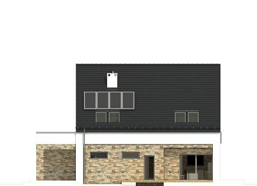 Bernikla II z garażem 2-st. A1 - Elewacja tylna