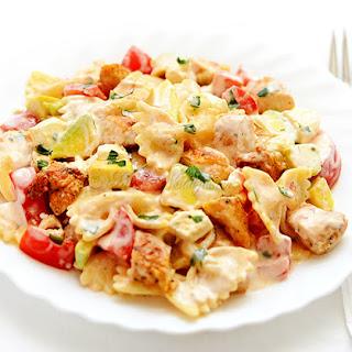 Chicken Feta Cheese Pasta Salad.