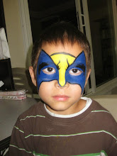 Photo: Superhero face painting by Maria, Chino. Call to book her today: 888-750-7024 http://www.memorableevententertainment.com/FacePainting/MariaChino,Ca.aspx