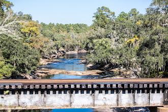 Photo: The Suwannee River, running low