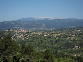 Photo: We also get good views of Mt. Ventoux, the highest mountain in Provence.