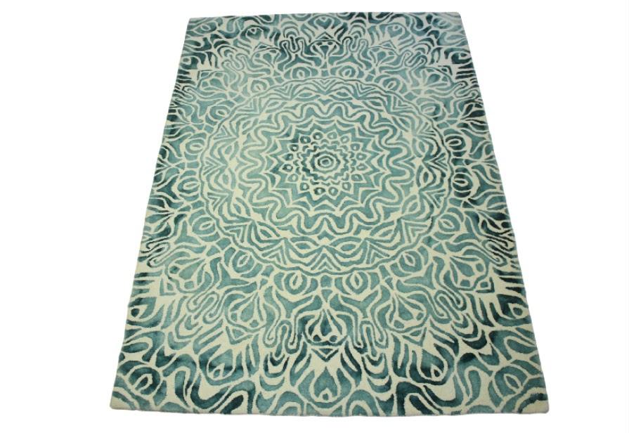 100% wełnany dywan z Indii ręcznie taftowany vintage 160x230cm