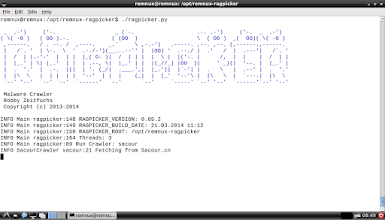 Photo: Ragpicker Malware Crawler by Robby Zeitfuchs allows REMnux users download a large number of malware samples.