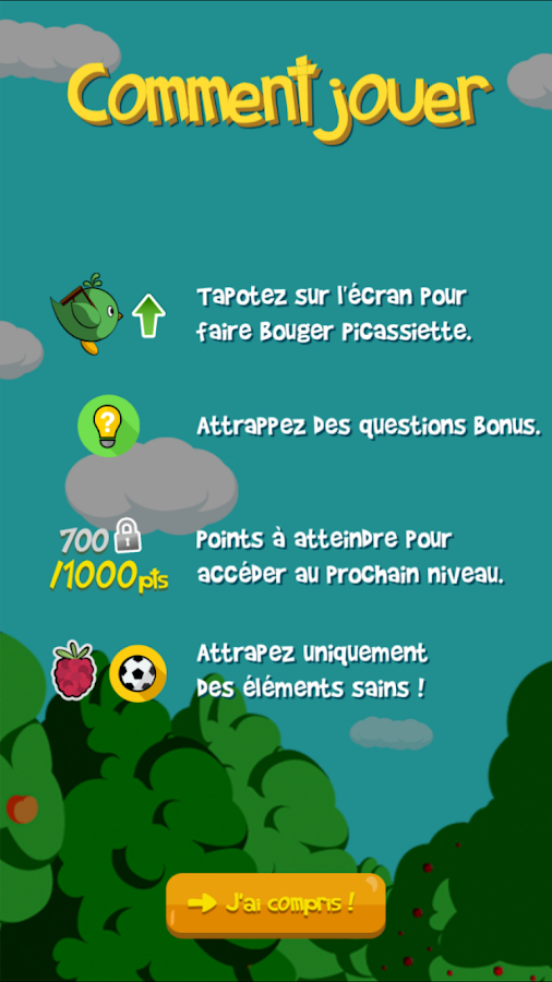 Nutribird – Capture d'écran