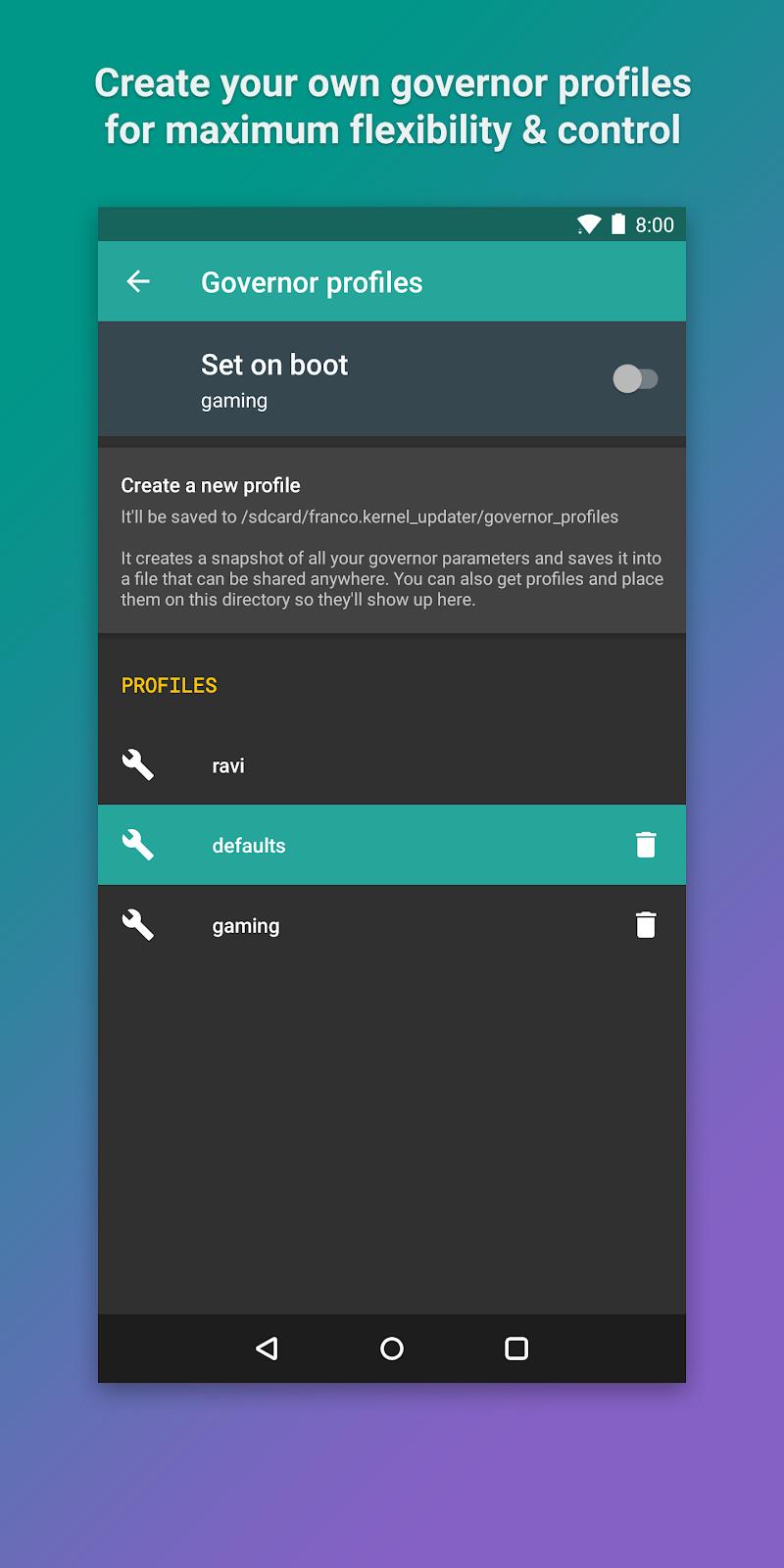 Kernel Manager for Franco Kernel ✨ Screenshot 4