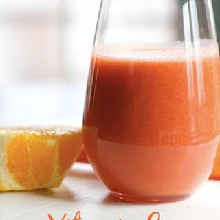 Vitamin C Smoothie with Orange, Apple, Carrot.