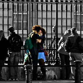 Passion by Kristelle Matthew - People Couples ( canon, love, kiss, london, black and white, color, passion, photography,  )