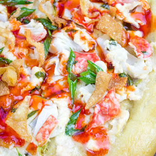 Crab Rangoon Pizza with Sweet & Sour Drizzle