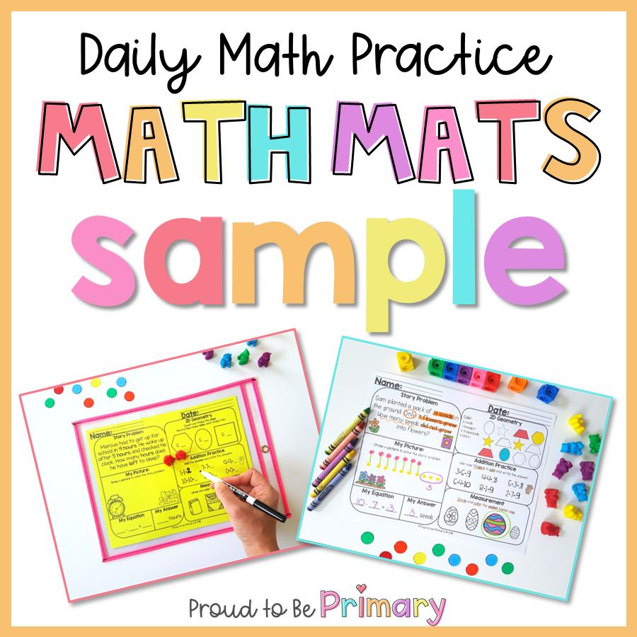 Free Math Mats - Measurement Activities