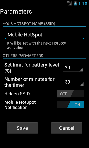 Mobile HotSpot by AndroidSTT (Google Play, United States