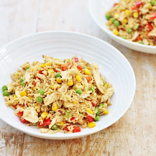 Leftover Chicken and Egg Fried Rice Recipe