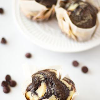 Chocolate Muffins with Greek Yogurt Swirls Recipe