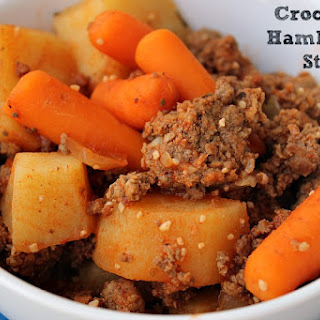 Crock Pot Hamburger Stew.
