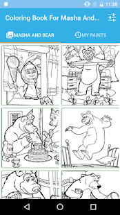 Coloring Book For Masha And Bear - náhled