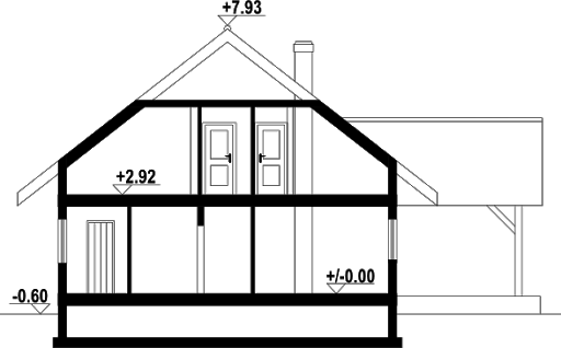 Osina duża 6dws - Przekrój