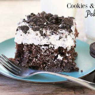 COOKIES & CREAM POKE CAKE