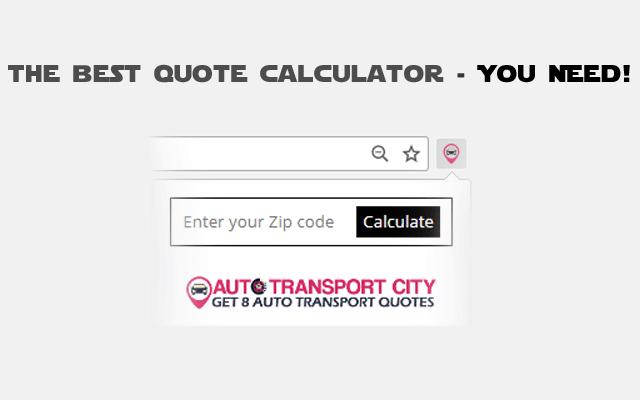 Auto Transport Quote Calculator