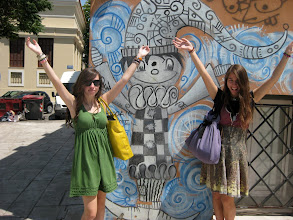 Photo: Street art, heading down from the Acropolis to the Plaka