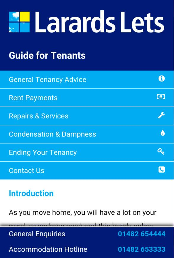 Larards Lets Guide for Tenants- screenshot