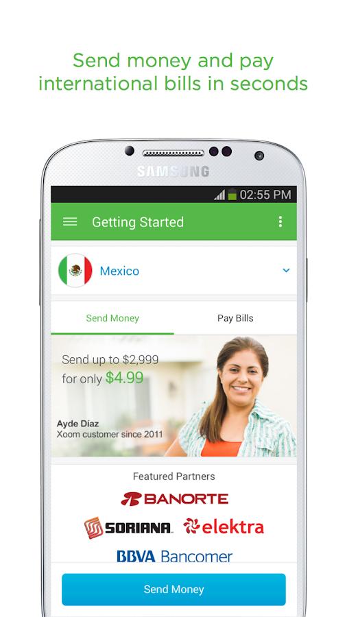 Xoom Money Transfer- screenshot