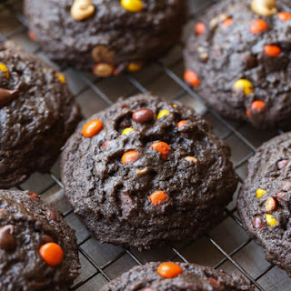 Thick and Soft Chocolate Peanut Butter Cookies