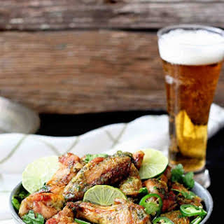 Crispy Chili Lime Baked Wings.