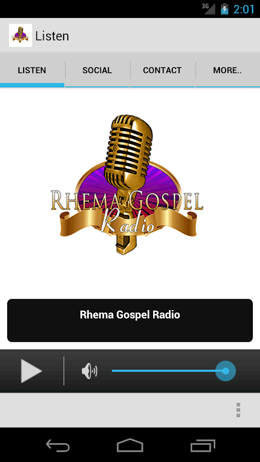 Rhema Gospel Radio- screenshot