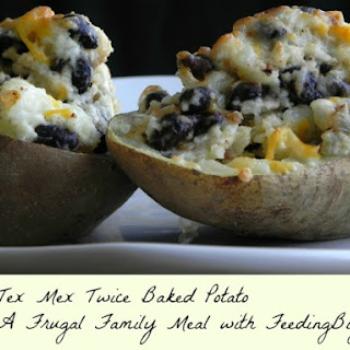 Tex Mex Twice Baked Vegetarian Potatoes