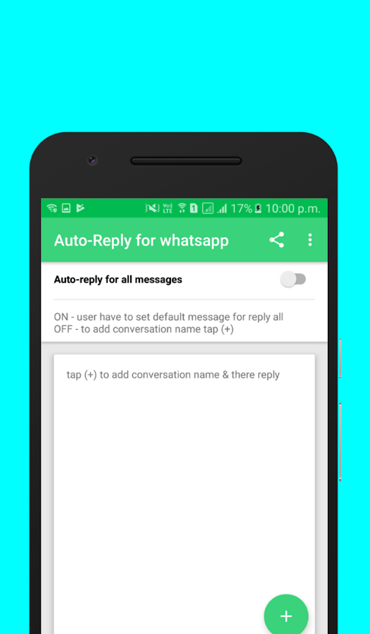 Auto-Reply for whatsapp- screenshot