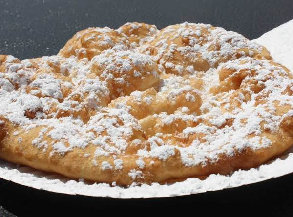 Indian Fry Bread With Powdered Sugar Sprinkled On Top